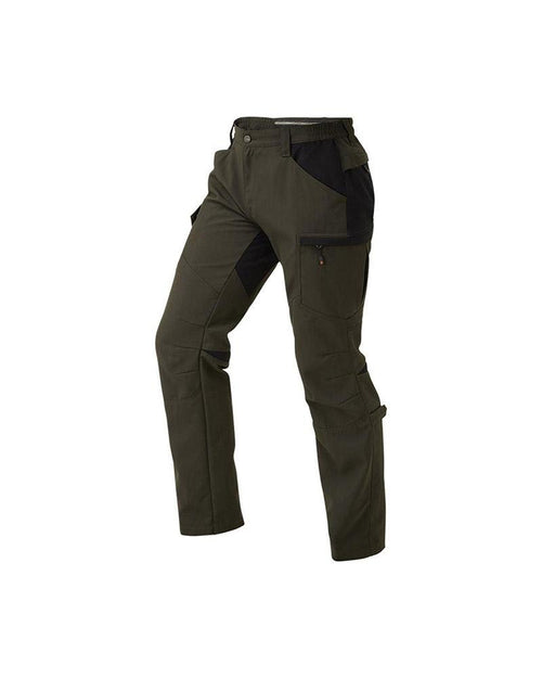 Shooterking Active Lite Cordura Lady Trousers Brown Olive and Black Women's Hunting Trousers Front View Lady Hunter UK