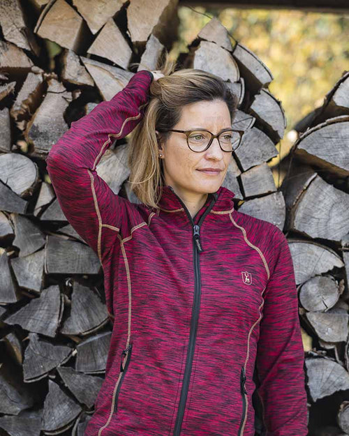 DeerhunterLady Insulated Fleece, Red MelangeFleecesLady Hunter UK
