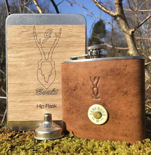J Boult DesignsShotgun Cartridge Hip Flask SetHip FlaskLady Hunter UK