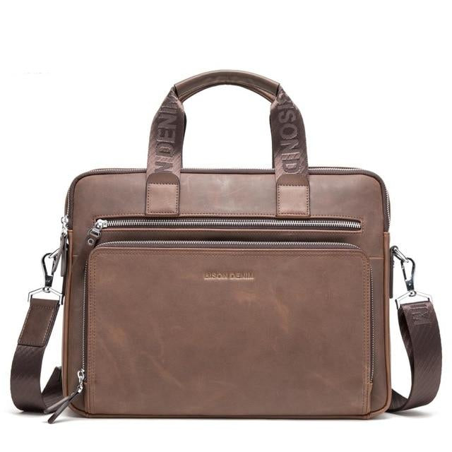 "Genuine leather 14"" Briefcase For Men"