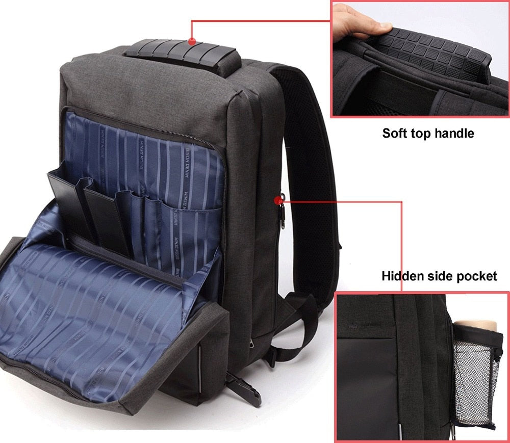 "15"" Travel Backpack With USB - 2 Colors"