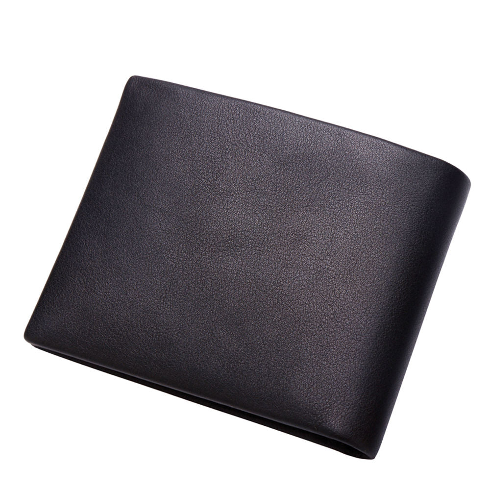 Genuine Leather Short Wallet For Men