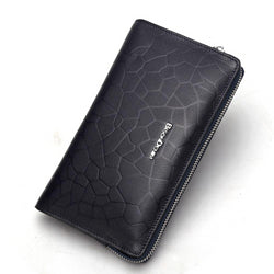 Genuine Textured Leather Long Wallet For Men