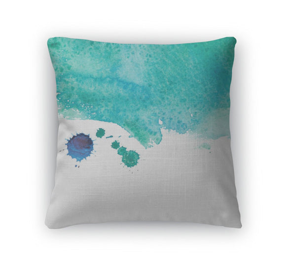 Throw Pillow, Watercolor Sea Wave - Throw Pillow - Payabee Home Goods