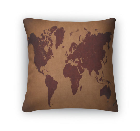 Throw Pillow, Old Vintage World Map - Throw Pillow - Payabee Home Goods