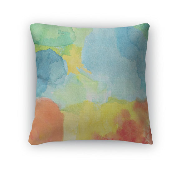 Throw Pillow, Abstract Watercolor - Throw Pillow - Payabee Home Goods