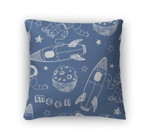 Throw Pillow, Rockets Pattern - Throw Pillow - Payabee Home Goods