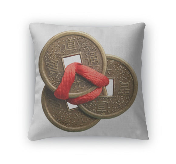 Throw Pillow, Feng Shui Coins - Throw Pillow - Payabee Home Goods