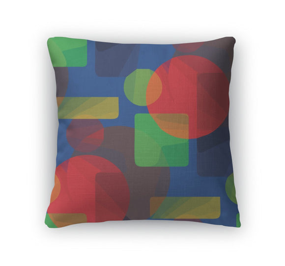 Throw Pillow, Abstract Green Blue Red Pattern Illustrati - Throw Pillow - Payabee Home Goods