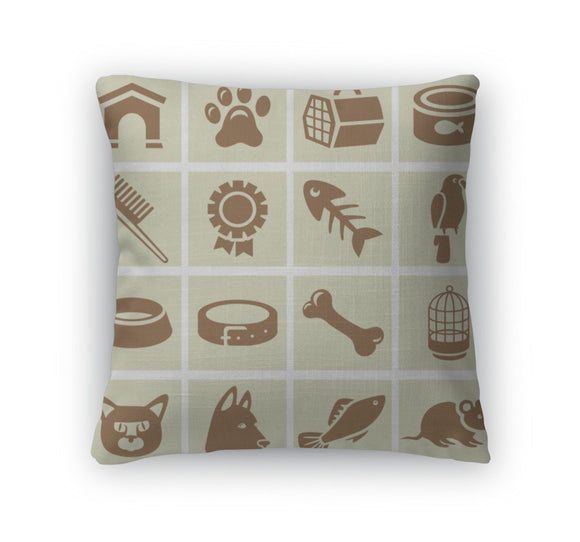 Throw Pillow, Design Elements For Veterinary - Throw Pillow - Payabee Home Goods