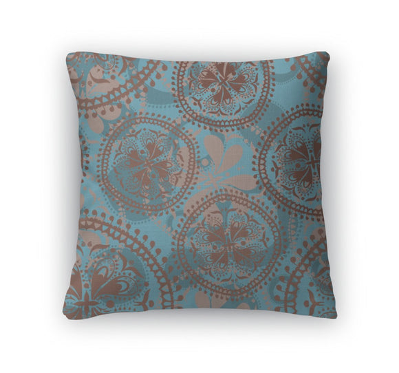 Throw Pillow, Abstract Oriental Pattern - Throw Pillow - Payabee Home Goods