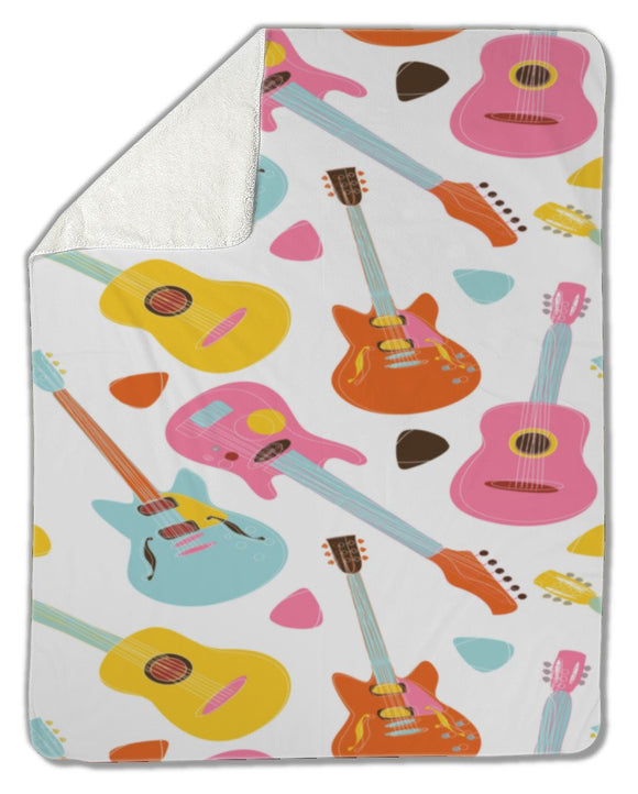 Blanket, Guitar pattern - Blankets - Payabee Home Goods
