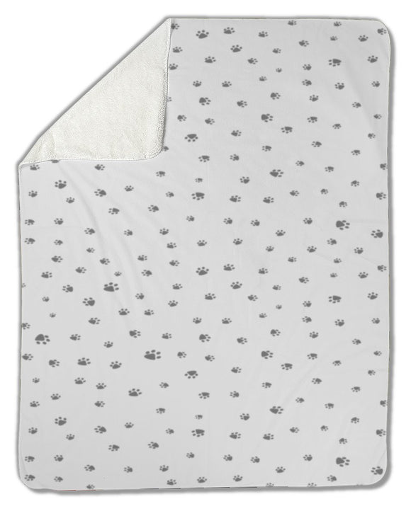 Blanket, Footprint of cat and dog - Blankets - Payabee Home Goods