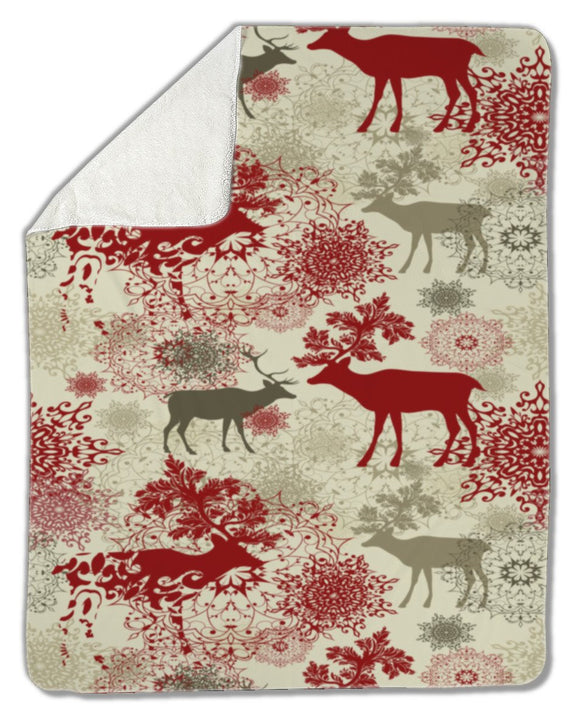 Blanket, Retro Christmas pattern - Blankets - Payabee Home Goods