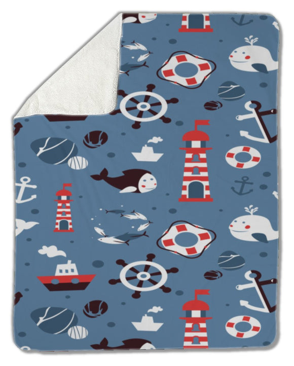 Blanket, Sea icons - Blankets - Payabee Home Goods
