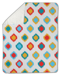 Blanket, Ikat asian traditional pattern, - Blankets - Payabee Home Goods