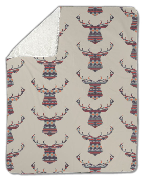 Blanket, Ethnic pattern with deer - Blankets - Payabee Home Goods
