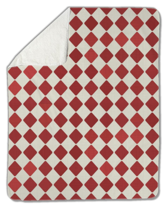 Blanket, Retro red harlequin - Blankets - Payabee Home Goods