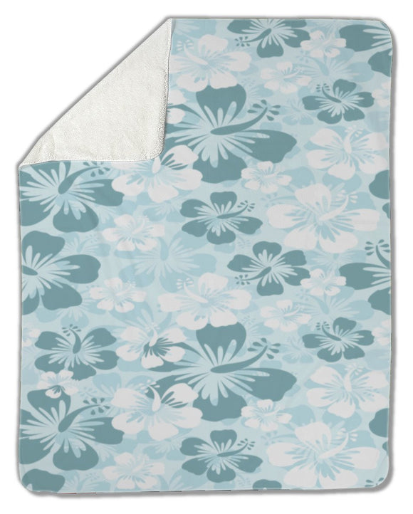 Blanket, Hibiscus background - Blankets - Payabee Home Goods