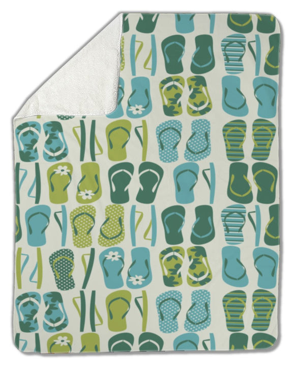 Blanket, Flip Flops Background - Blankets - Payabee Home Goods
