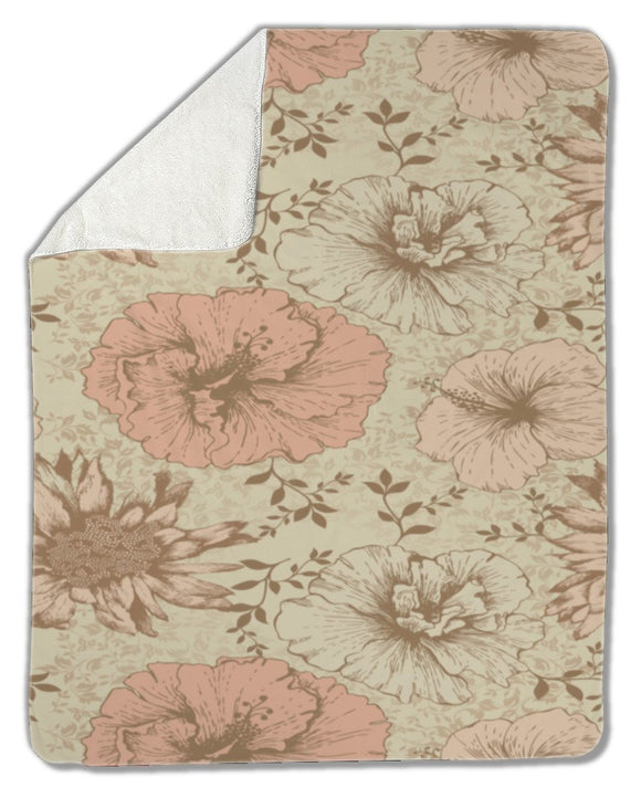 Blanket, Floral Pattern - Blankets - Payabee Home Goods