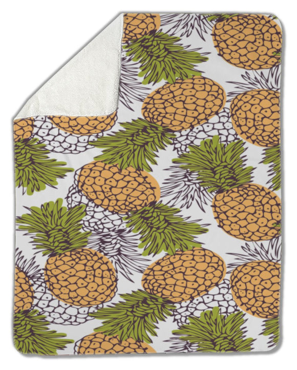 Blanket, Pineapple background - Blankets - Payabee Home Goods