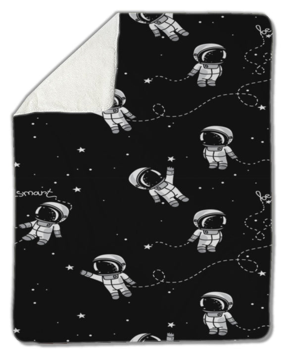 Blanket, Astronauts floating in space - Blankets - Payabee Home Goods