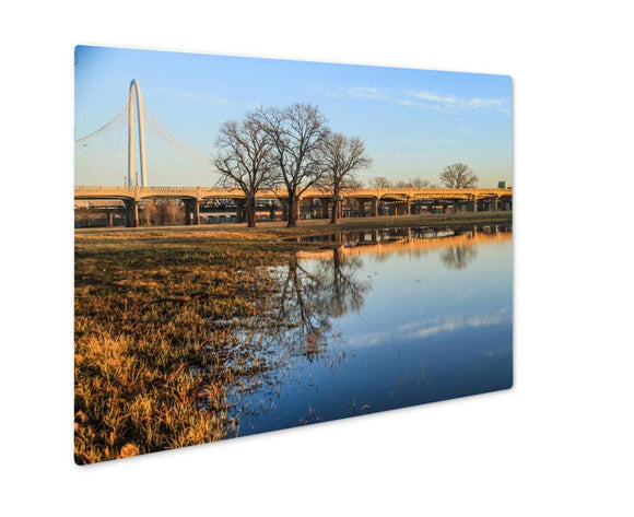 Metal Panel Print, Margaret Hunt Hill Bridge In Dallas City - Metal Panel Print - Payabee Home Goods