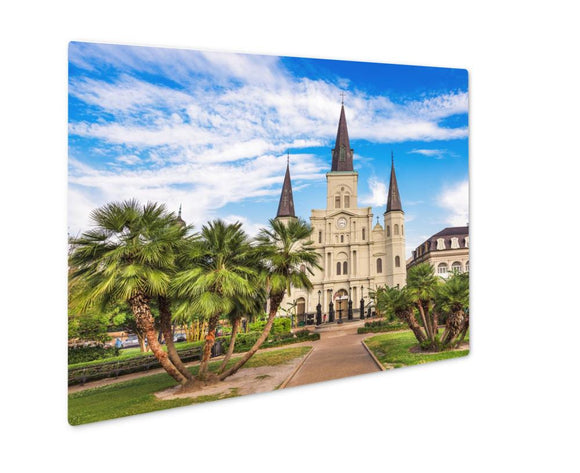 Metal Panel Print, New Orleans Louisianusat Jackson Square And St Louis Cathedral - Metal Panel Print - Payabee Home Goods