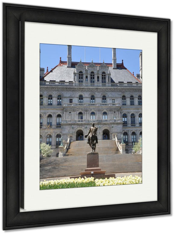 Framed Print, New York State Capitol In Albany USA Architecture Landmark View Building - Framed Print - Payabee Home Goods