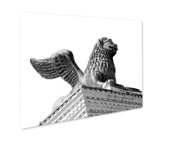 Metal Panel Print, Winged Lion Statue In Piazzsan Marco In Venice - Metal Panel Print - Payabee Home Goods