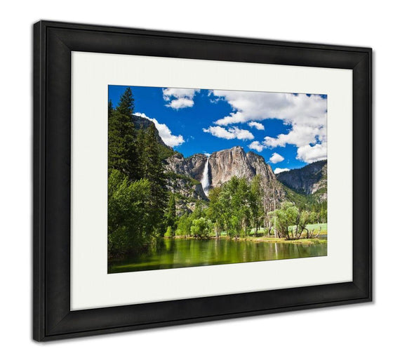 Framed Print, The Waterfall In Yosemite National Park - Framed Print - Payabee Home Goods