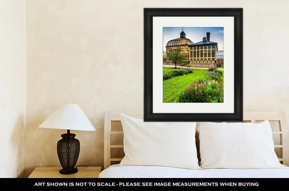 Framed Print, Gardens And The Howard Peters Rawlings Conservatory At Sunset In - Framed Print - Payabee Home Goods