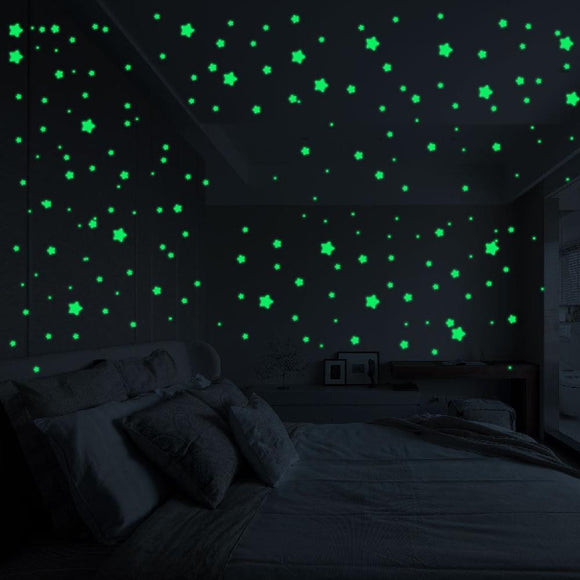 127-Piece Glow In The Dark Star Stickers - Wall Stickers - Payabee Home Goods