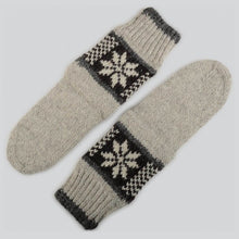 Load image into Gallery viewer, Grey Hand Knitted Socks For Him