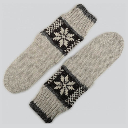 Grey Hand Knitted Socks For Him