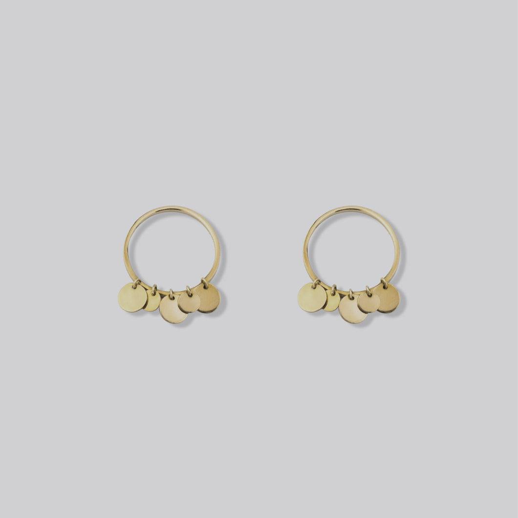 Golden Coin Earrings
