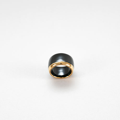 Porcelain Ring Gold S black