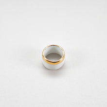 Load image into Gallery viewer, Porcelain Ring Gold S white