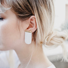 Load image into Gallery viewer, Porcelain Earrings Gold XL