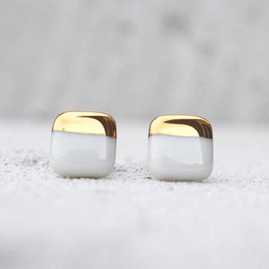 Porcelain Earrings Gold S