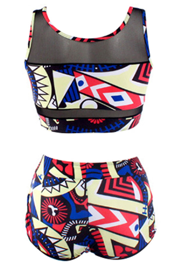 Mercidress Charming Printed Two-piece Swimwear