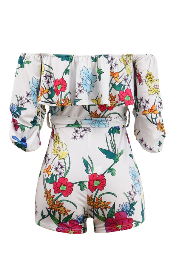 Mercidress Sweet Floral Printed One-piece Rompers