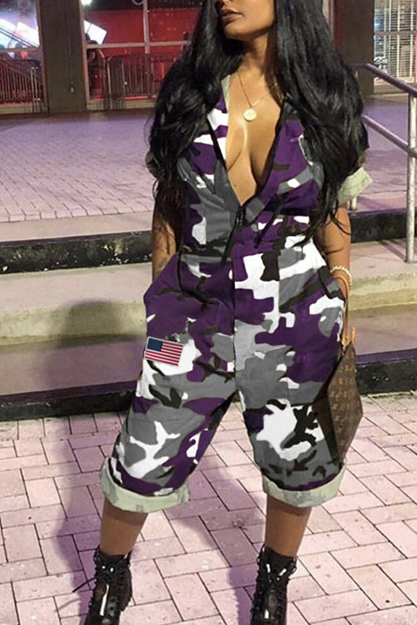 Mercidress Euramerican Camouflage Printed Jumpsuit