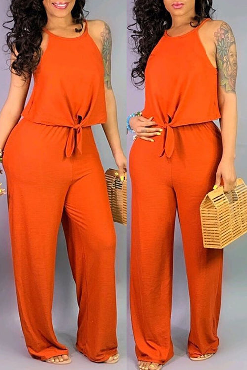 Mercidress Casual Sleeveless Two-piece Pants Set