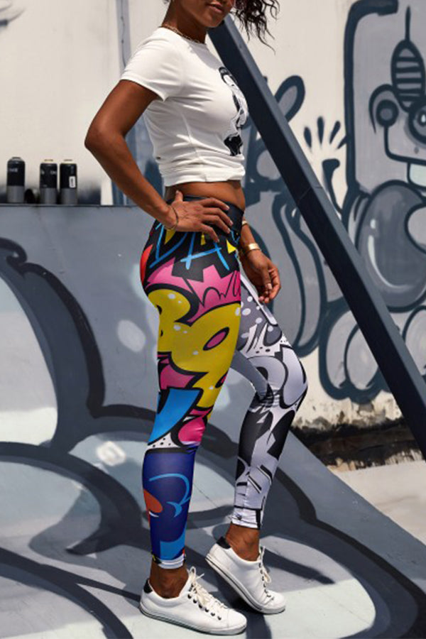 Mercidress Casual Printed Multicolor Pants