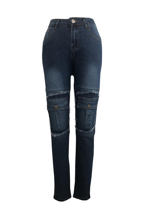 Mercidress Casual Patchwork Jeans