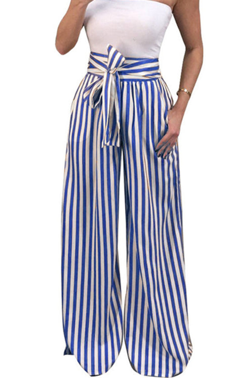 Mercidress Stylish High Waist Striped Pants