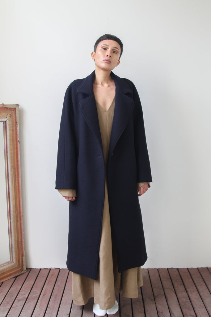 nou nou coat | dark navy