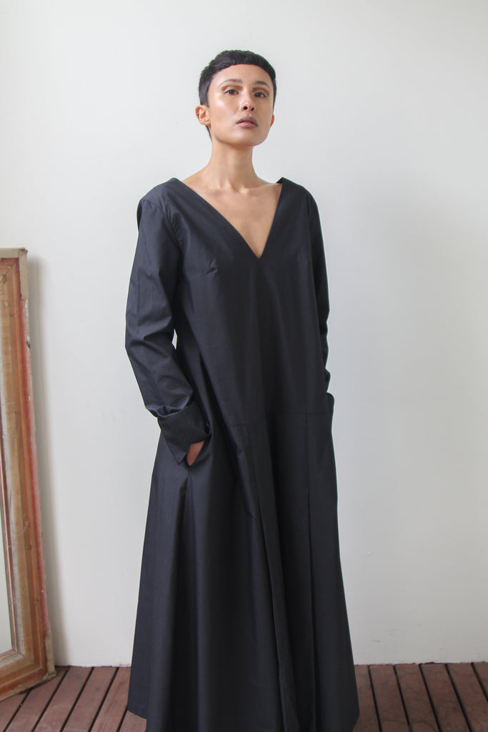 tokai dress | charcoal
